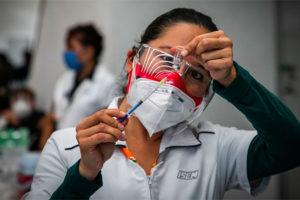 A dose of Covid vaccine is prepared