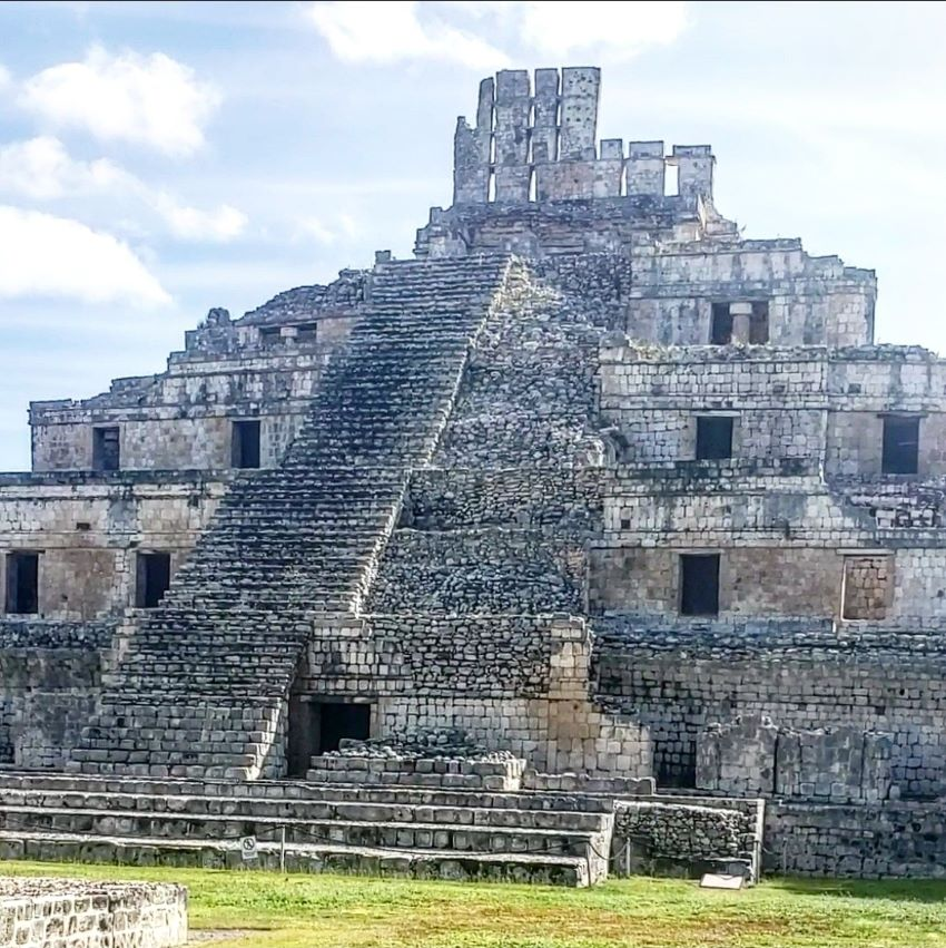 The Pyramid of Five Floors, 31.5 meters tall, is thought to have been a residential building for Edzná's leaders as well as a shrine.