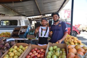 In La Puerta, fresh fruits and vegetables are easy to find.