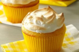 You'd probably never guess there's yogurt in these sweet, fluffy lemon meringue muffins.