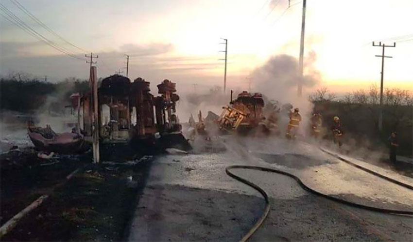 Thursday's accident near Salinas Victoria, Nuevo León.