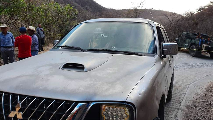 The vehicle in which the Guatemalans were traveling when a soldier opened fire.