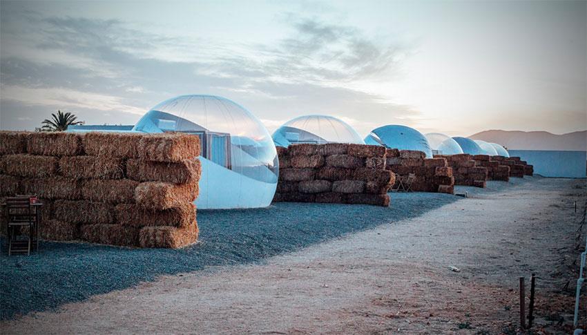 Bubble accommodations near Ensenada, Baja California.