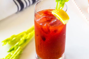 The classic use of celery: topping a Bloody Mary