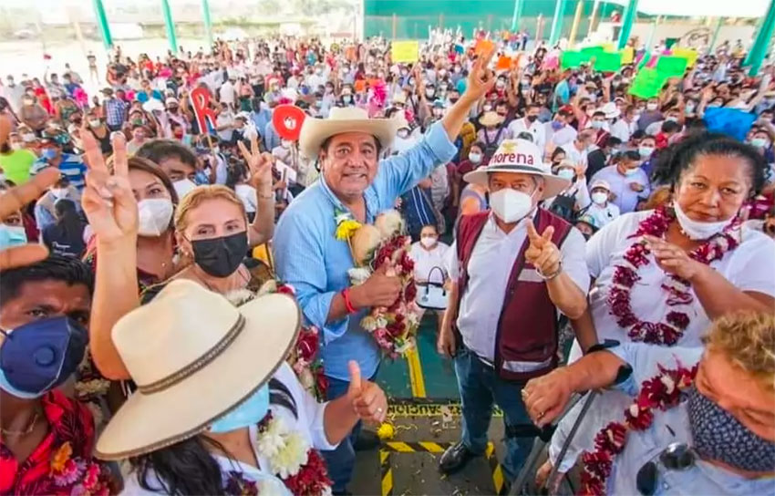 Félix Salgado at a campaign rally in Guerrero