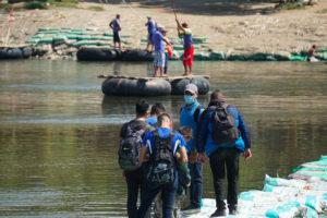 rafts on suchiate river