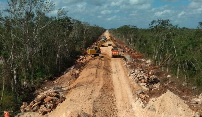 Maya Train construction under way in the southeast.