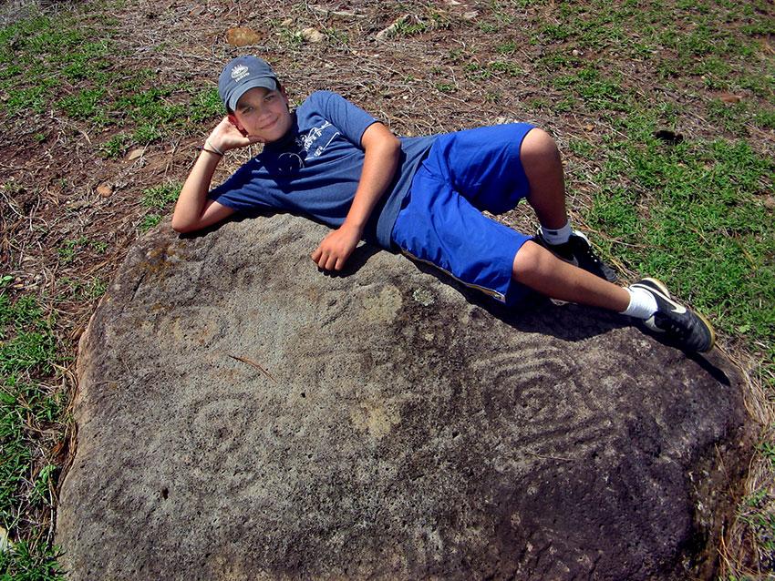 Cómo se ven los petroglifos sin tiza.
