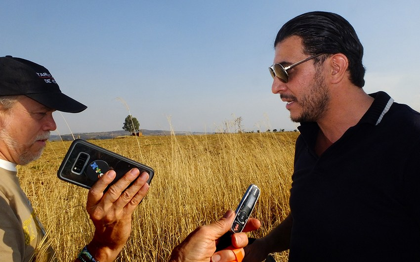 Archaeologist Francisco Sánchez, right, relates the story of the third Guadalajara.