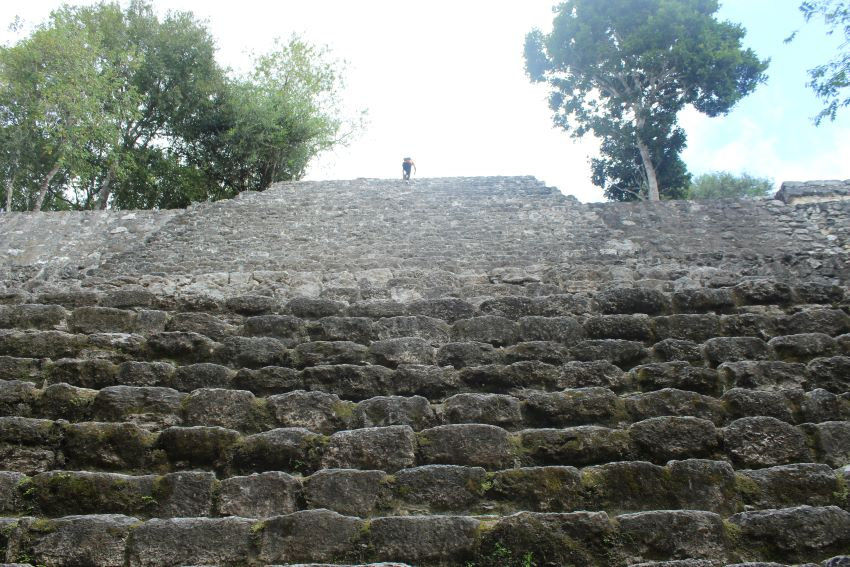 You can climb most of the structures here, but prepare for the journey to be a bit steep.