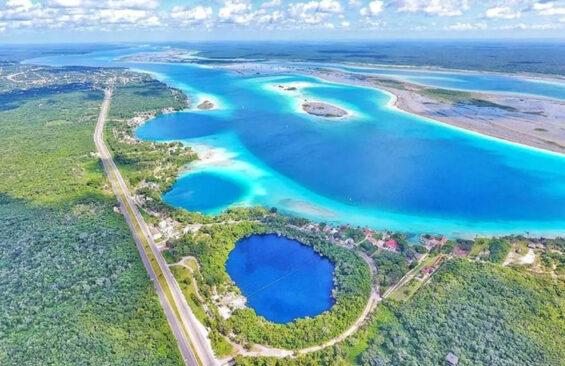 The Bacalar lagoon area of Quintana Roo