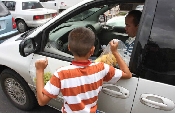 Child vendor in Guadalajara. A UNICEF report cited the city, as well as Zapopan, Jalisco and Mexico City, as particularly unsafe zones for minor pedestrians.