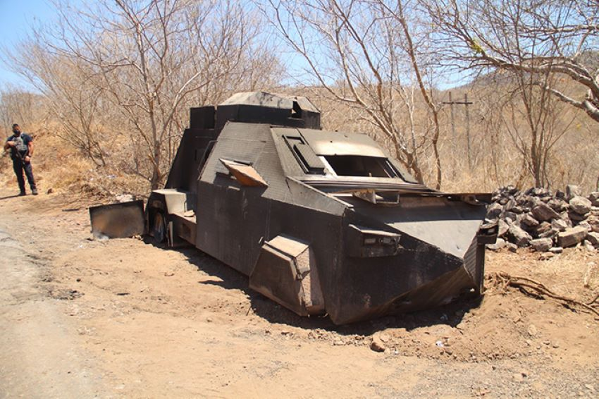 Armored cartel tank weighing more than 10 tonnes was found by Michoacán authorities Tuesday
