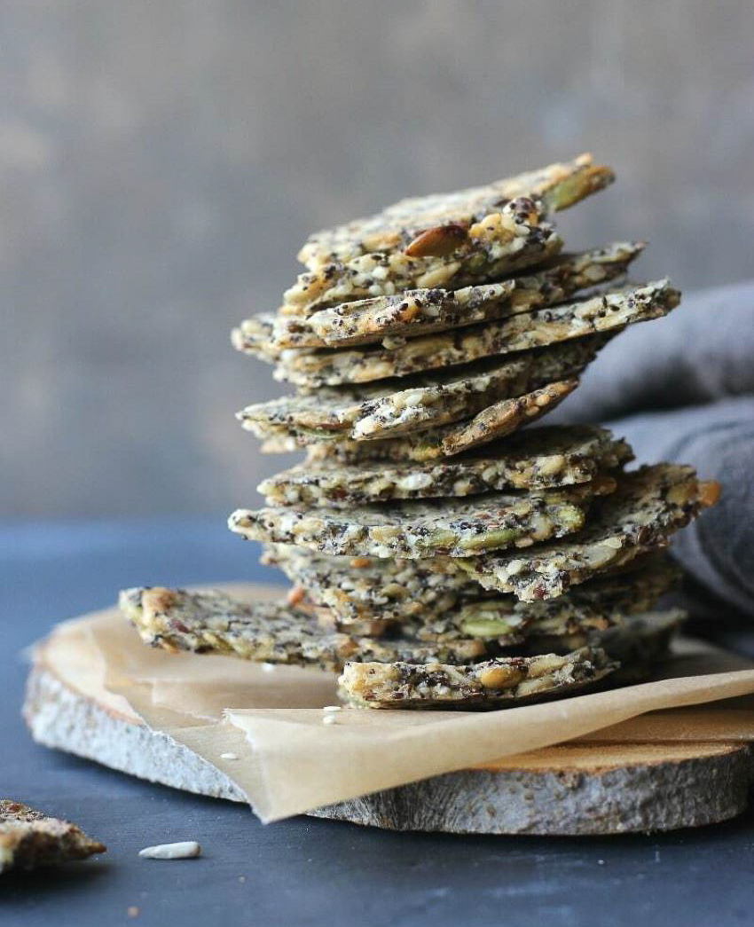 These oat crackers, with five types of seeds, are rich in omega-3s.