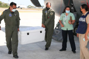 Vaccines being delivered for use in Quintana Roo.
