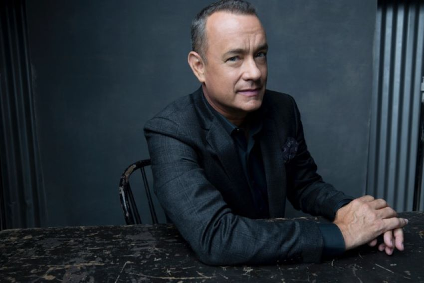 Actor Tom Hanks is promoting his debut short story collection Uncommon Type.