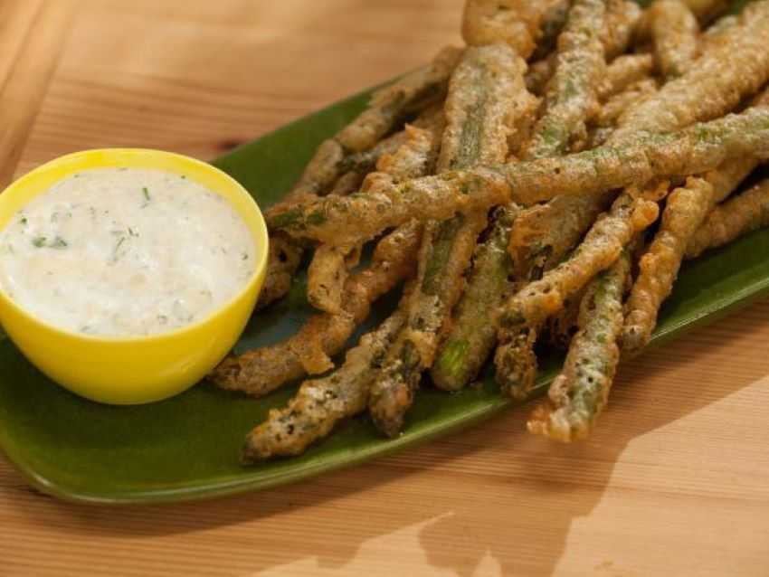 A creamy dipping sauce takes this battered treat to a whole new level.