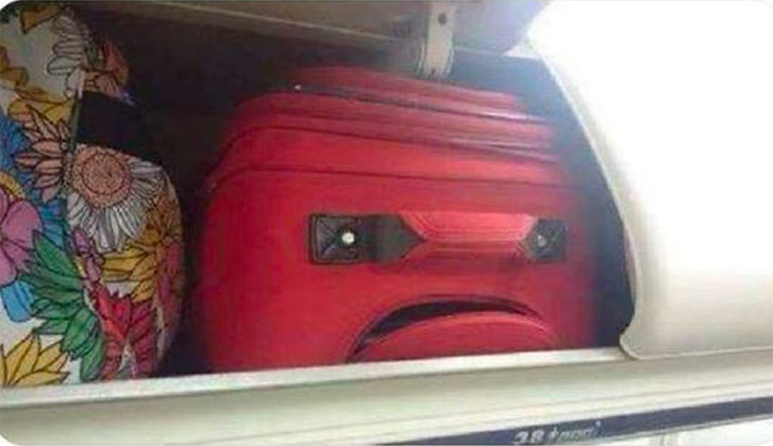 'This is my suitcase arriving at Felipe Ángeles Airport and seeing the logo,' was one post on social media.