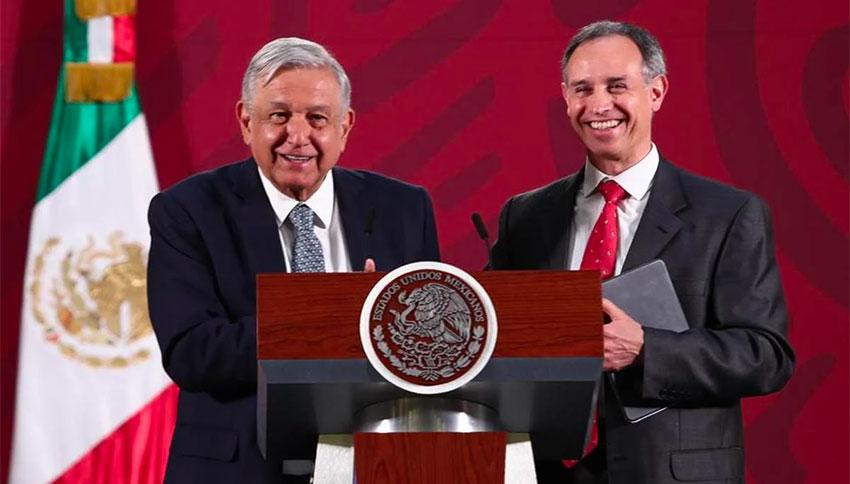 President López Obrador and Deputy Health Minister Hugo López-Gatell,