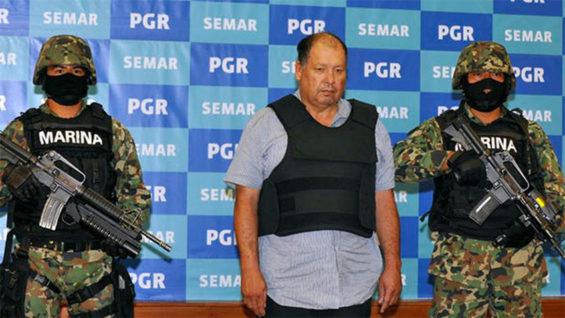 Mario Cárdenas during his arrest in 2012.