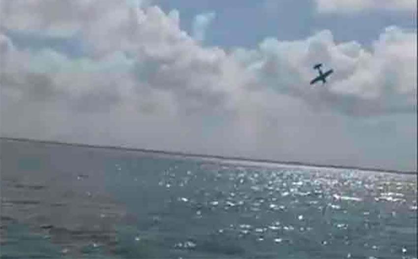 The plane did a nosedive into Nichupté Lagoon.