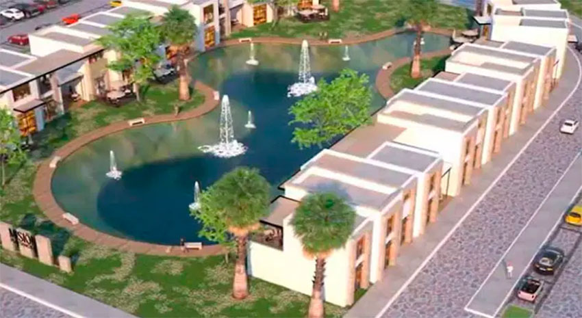 An architect's rendering of part of the La Paz project.