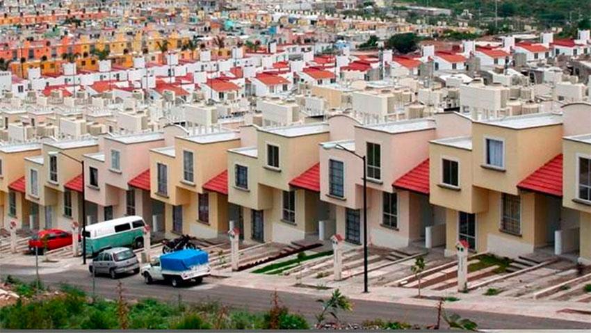 An Infonavit housing development.
