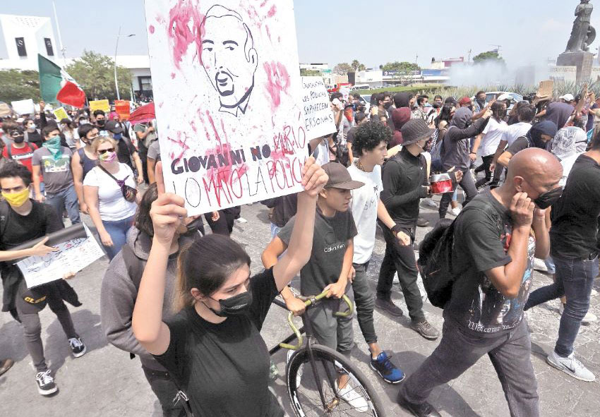 The killing of Giovanni López by police for not wearing a face mask, which sparked protests