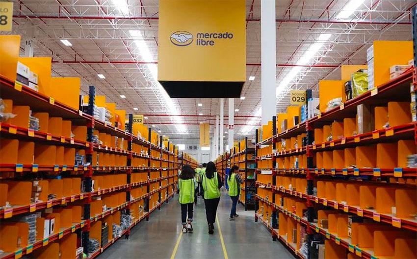 A Mercado Libre distribution center in Tepotzotlán, México state.