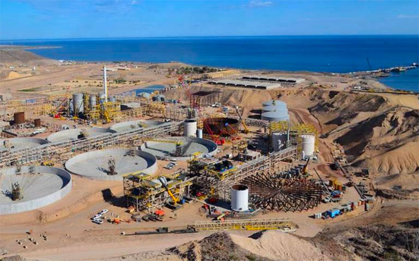 The El Boleo mine in Baja California Sur.