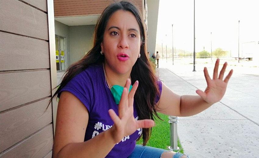 Revenge porn victim and campaigner Olimpia Melo.