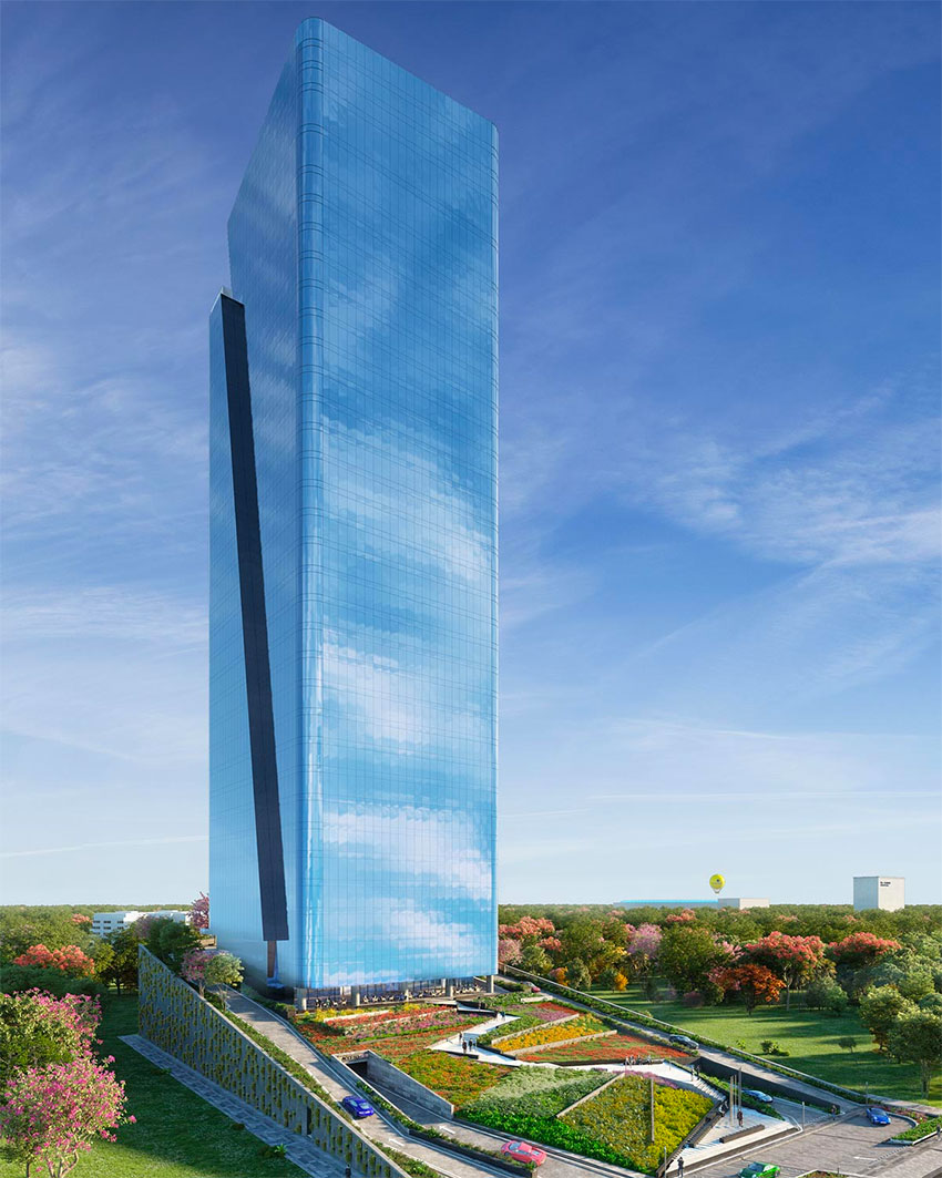 The building will be the tallest in any of the region's cities