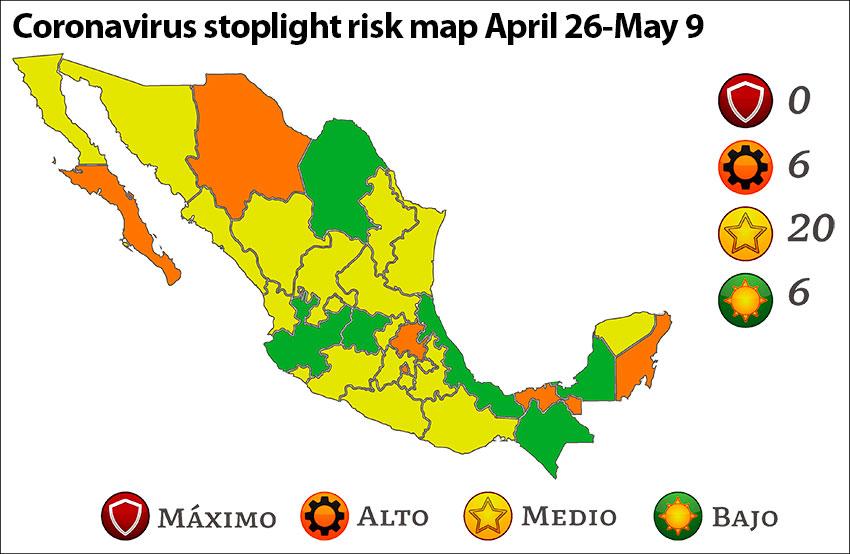 coronavirus stoplight risk map