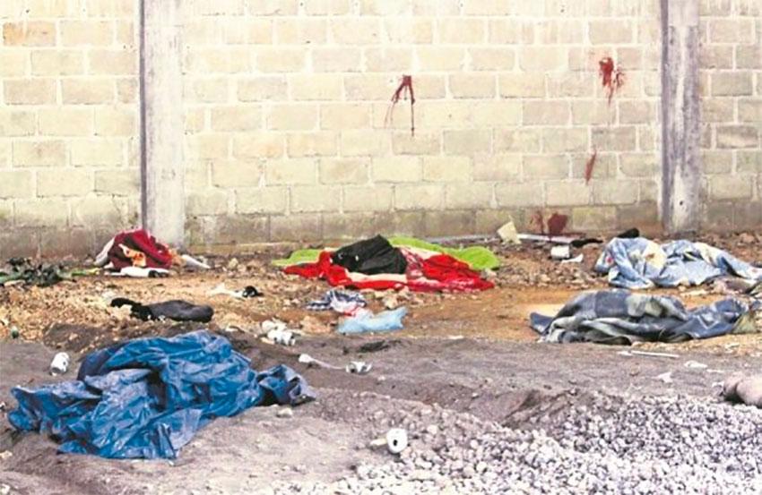 The crime scene, a warehouse in Tlatlaya, México state.