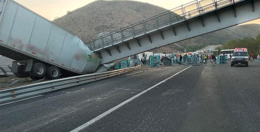The scene of Thursday's accident in San Luis Potosí.