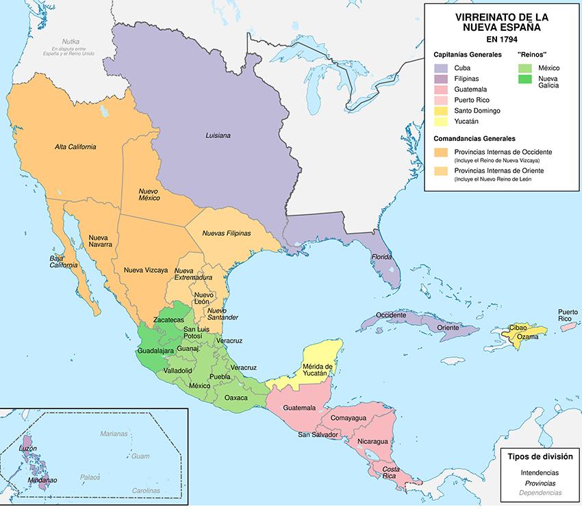 Planificación de un virrey español en América Latina, 1794.