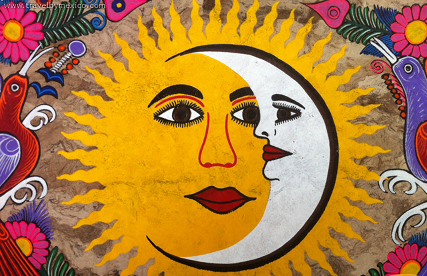 Amate paper painting by unknown artist