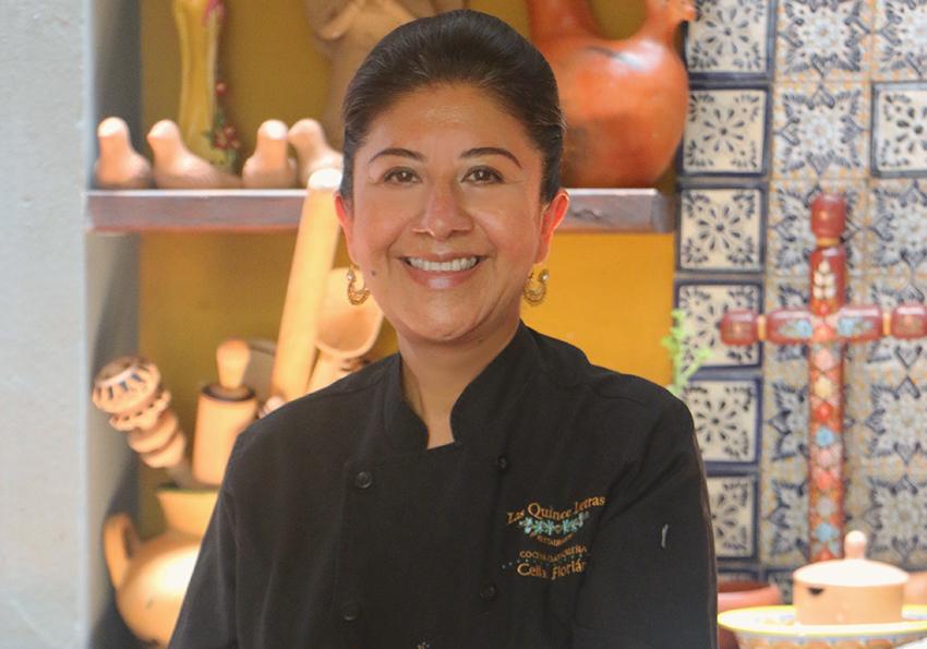Chef Celia Florián is the owner of the restaurant Las Quince Letras in Oaxaca city.