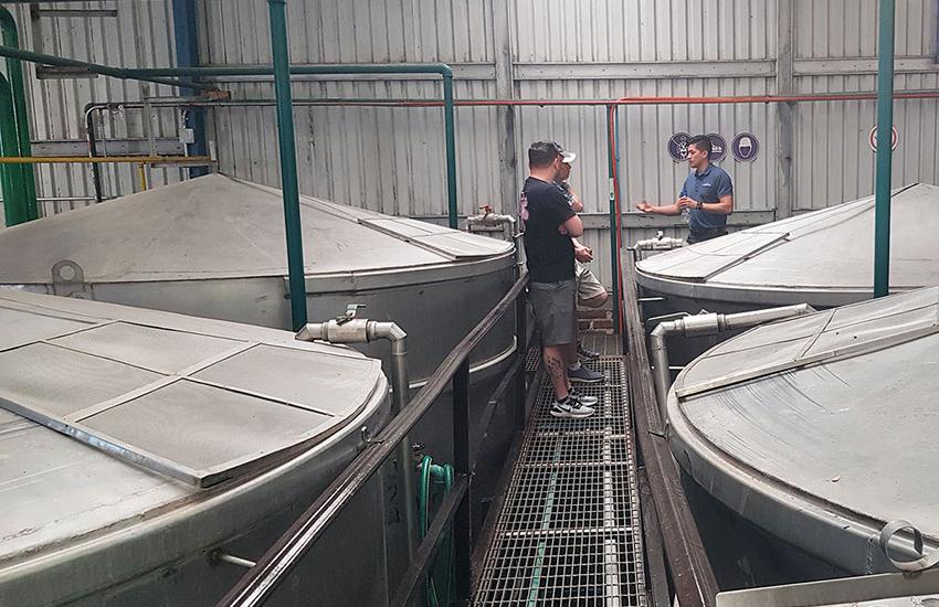 Agave Azul's huge fermentation vats