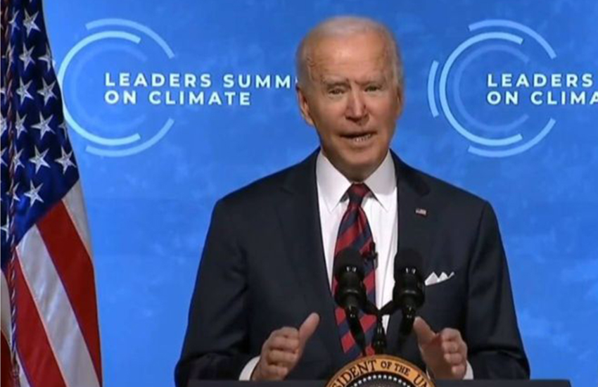 Biden at Leaders Summit on Climate Change