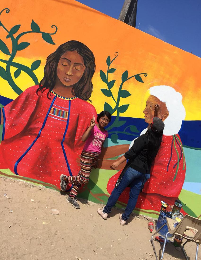 Julia Celeste mural in San Quintin, Baja California