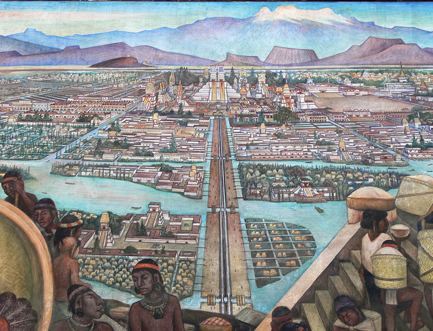 Diego Rivera from History of Mexico murals