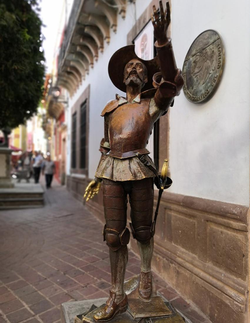 Don Quixote statue Guanajuato