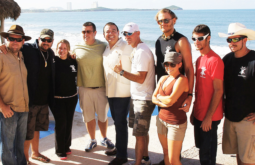Cast and crew of The Gator Boys in Mazatlán