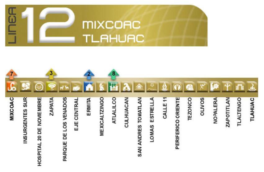 Metro Line 12 map
