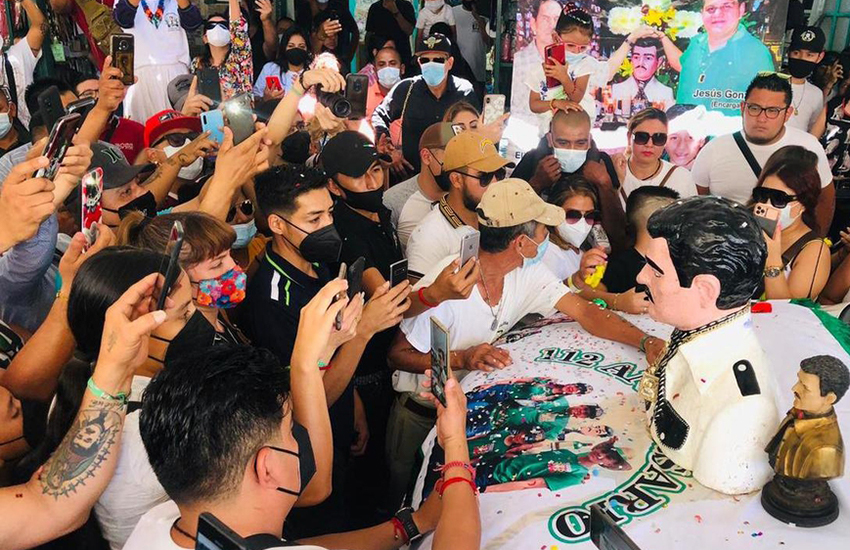 Despite Covid-19, worshippers of the outlaw saint Jesús Malverde flocked to his chapel in Culiacán, Sinaloa to pay their respects.