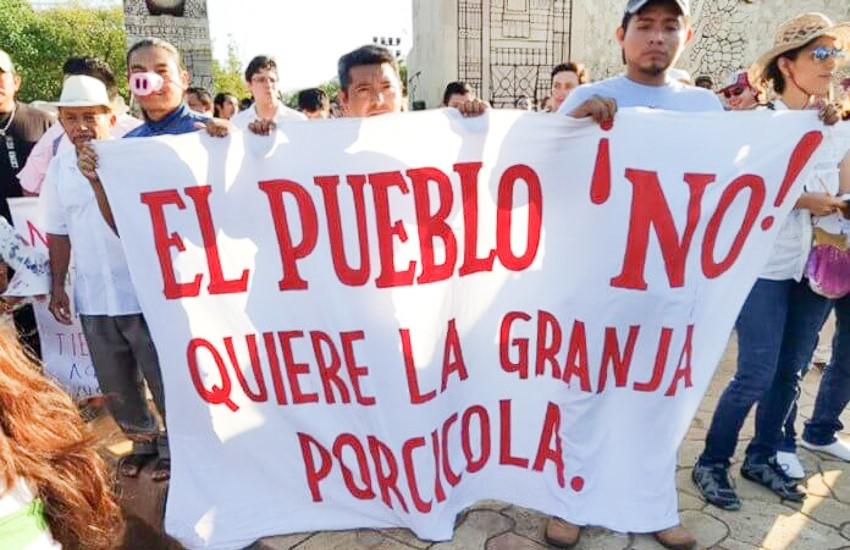 Protesters in Homún, Yucatan.