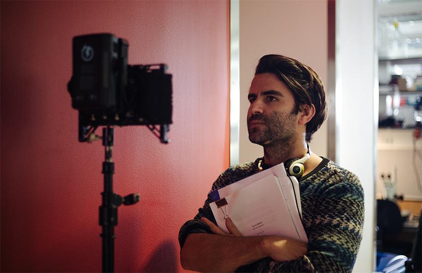 Son of Monarchs director Alexis Gambis behind the scenes
