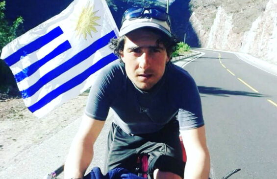 Uruguayan amateur bicyclist Tabaré Alonso