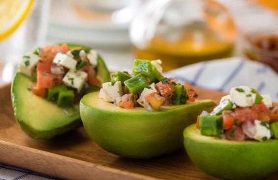 Nopal stuffed avocadoes